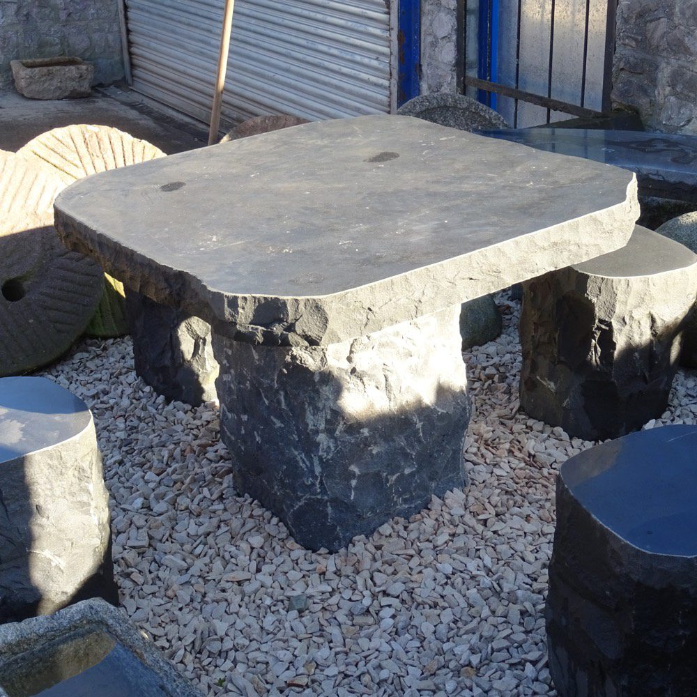Granite table with four seats