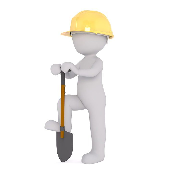construction worker skip hire