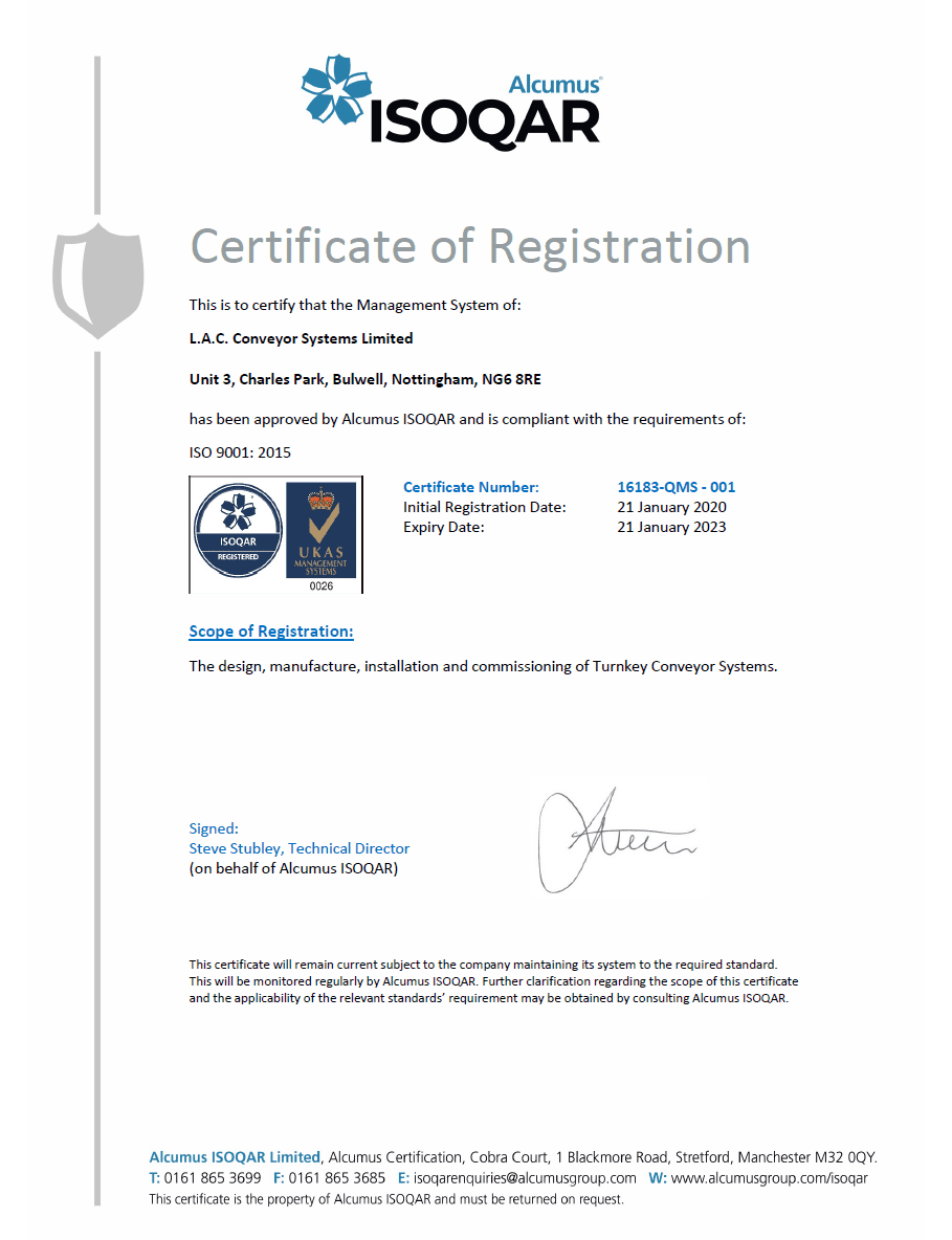 ISO 9001:2015 accredited